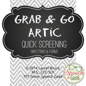 Grab & Go Artic-Quick Speech Directions & Forms