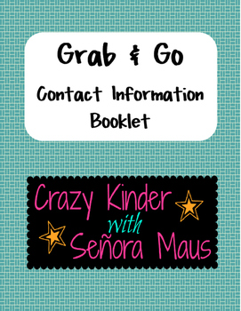 Grab & Go Contact Information Booklet