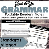 Grab & Go Grammar Foldables: Learn Grammar from Your Favorite Authors!