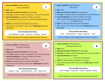 Grab & Go Stories Pack for GOOGLE Docs and MS Word!