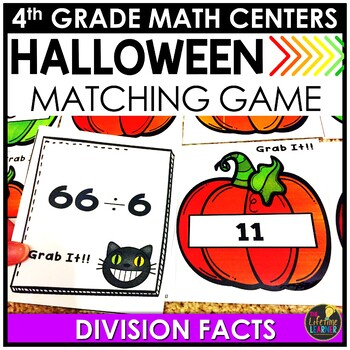 Grab It! Division Facts Game October Math Center
