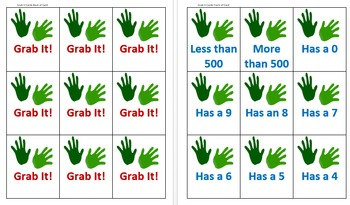 Grab It!  Fluency Games with 3 - Digit Addition and Subtraction