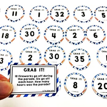Multiplication and Division Word Problems Summer Math Game