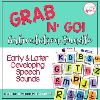 Grab N' Go Articulation BUNDLE {Early & Later Developing Sounds}