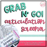 Grab N' Go Articulation Screener