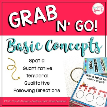 Grab N' Go Basic Concepts {Temporal, Spatial, Qualitative, Quantitative}