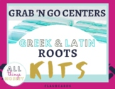 Grab N Go Centers| Greek and Latin Roots Kits | Flashcards