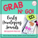 Grab N' Go Early Developing Sounds {Articulation Cards for Speech Therapy}