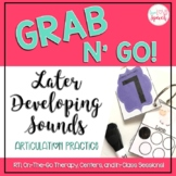 Grab N' Go Later Developing Sounds {Articulation Cards for Speech Therapy}