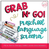 Grab N' Go Preschool Language Screener