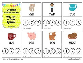 Grab N' Go Syllable Identification {FREEBIE} Phonological Awareness