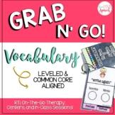 Grab N' Go Vocabulary {Leveled & Common Core Aligned}