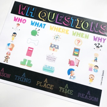 """Grab N' Go """"WH"""" Questions"""