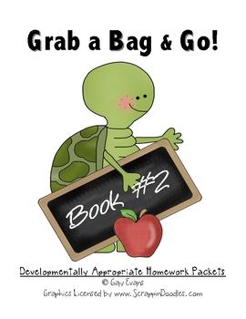 Grab a Bag and Go!  Homework Packets Book 2