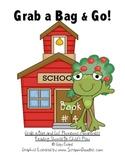 Grab a Bag and Go! Phonemic Awareness Homework Packets Book 4