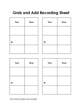 Grab and Add - Addition with Regrouping Game