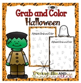 Grab and Color Alphabet- Halloween