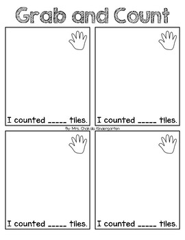 Grab and Count Math Activity and Center