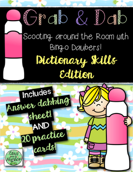 Grab and Dab Scoot for Dictionary Skills