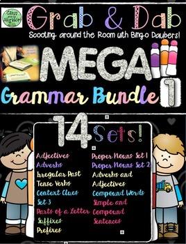 Grab and Dab Grammar Scoot MEGA BUNDLE ONE!