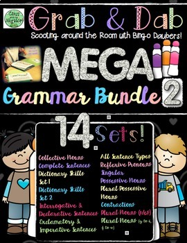 Grab and Dab Grammar Scoot MEGA BUNDLE TWO!