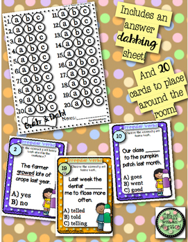 Grab and Dab Scoot for Irregular Past Tense Verbs