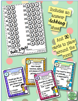 Grab and Dab Scoot for Simple and Compound Sentences