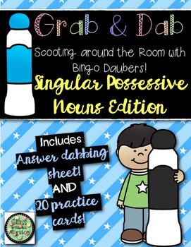 Grab and Dab Scoot for Singular Possessive Nouns