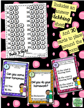 Grab and Dab Scoot for Types of Sentences: Declarative and Interrogative
