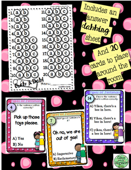 Grab and Dab Scoot for Types of Sentences: Imperative and Exclamatory