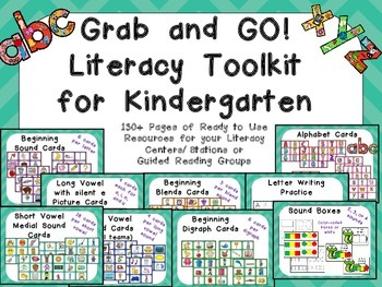 Grab and GO! Literacy Toolkit for Kindergarten Phonics & P
