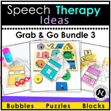 Speech Therapy Activities Grab and Go Bundle 3