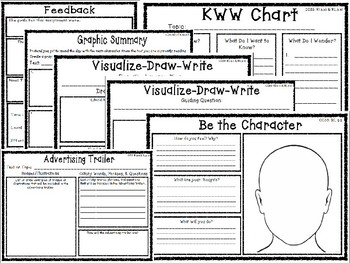 Grab and Go Critical Thinking Literature Graphic Organizers for Any Text