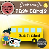 Grab-and-Go Morning Activity Task Cards Back to School