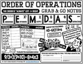 Grab and Go Notes: Order of Operations