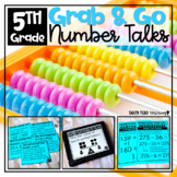 Number Talks Math Bundle YEAR LONG 4th - 5th Grade NUMBER