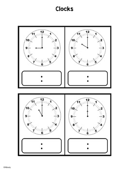 Grab and Go Telling Time