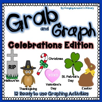 Math Centers for Graphing (Data Management) for Celebrations