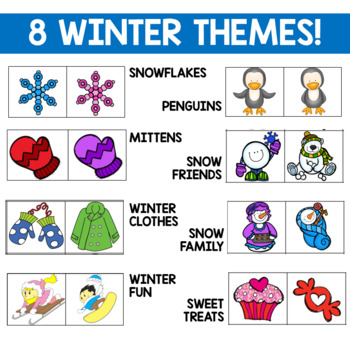 Winter Themed Math Centers for Graphing (Data Management)