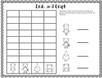 Grab and Graph Math Station Freebie