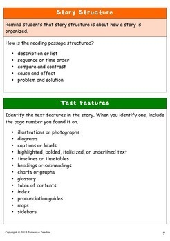 Grab 'n Go Guided Reading Questions