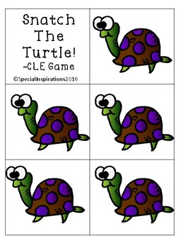 Grab the Turtle! (a -CLE Game) Orton-Gillingham Inspired
