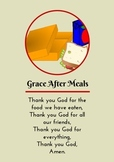 Grace After Meals - Prayer card / Poster
