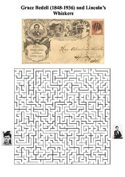 Grace Bedell and Lincoln's Whiskers Maze