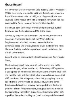 Grace Bussell Handout