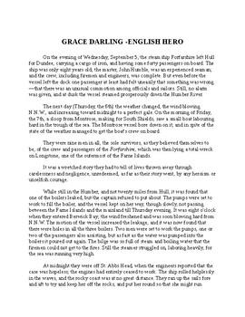 Grace Darling - English Hero