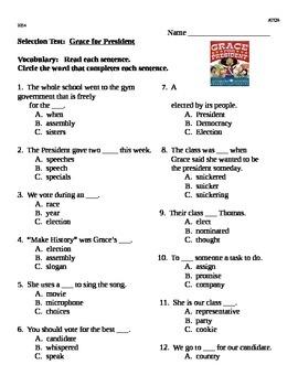 Grace For President Reading Street Second Grade Selection Test
