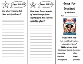 Grace For President Trifold - Reading Street 2nd Grade Unit 6 Week 5