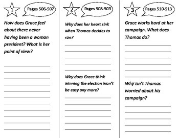 Grace For President Trifold - Reading Street 2nd Grade Unit 6 Week 5