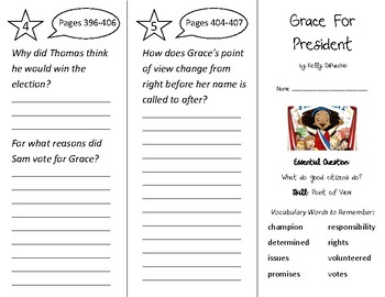 Grace For President Trifold - Wonders 2nd Grade Unit 5 Week 1